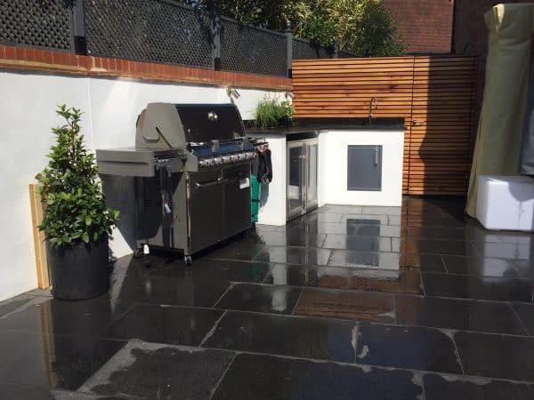 outdoor kitchen by David Stead Landscapes
