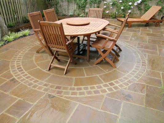 Traditional patio design